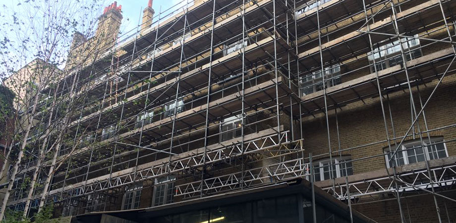 Scaffolding in London